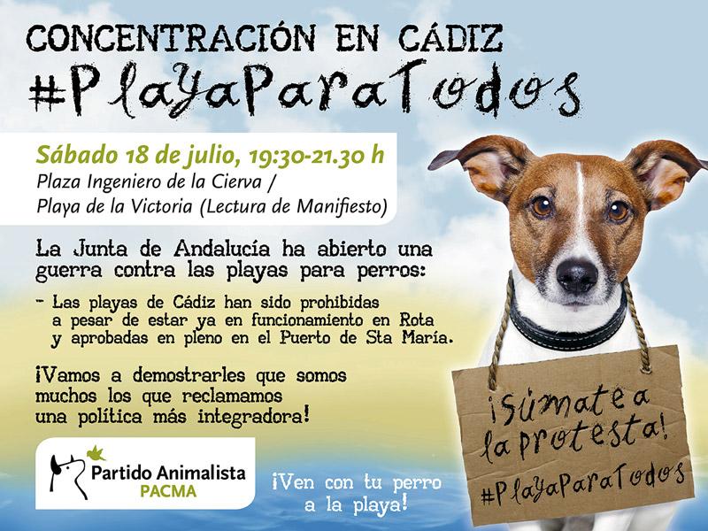 Cádiz: Concentración para pedir playas para todos