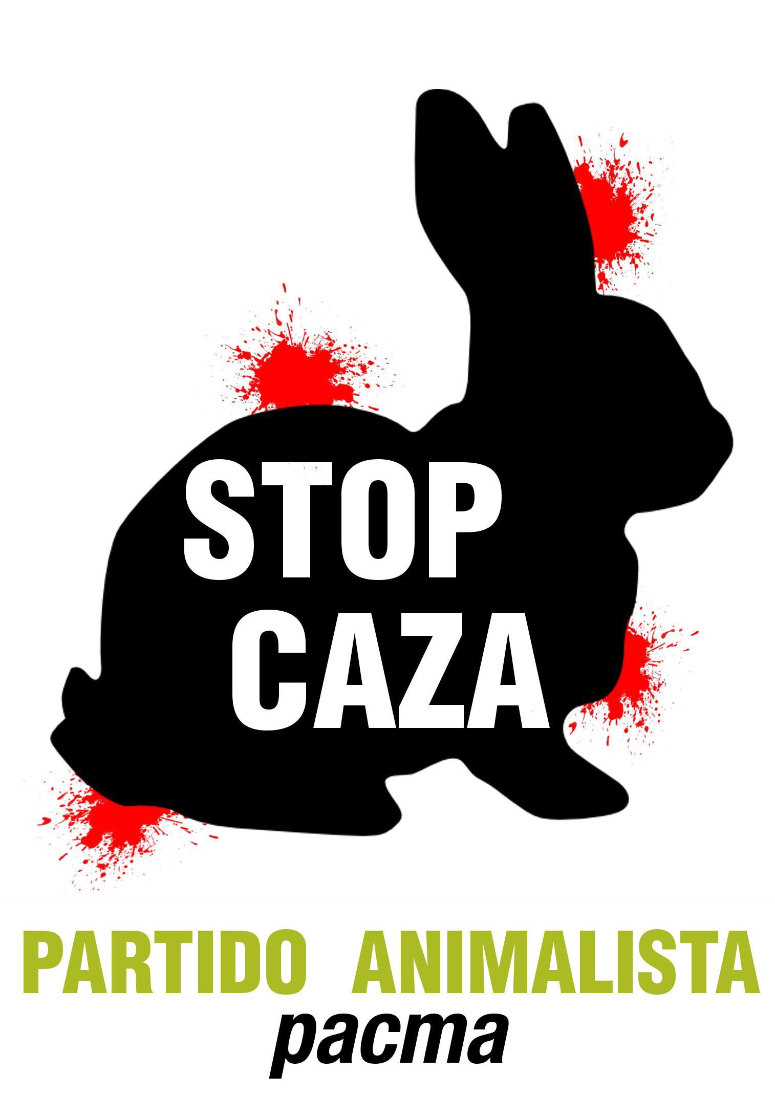 Cartel contra la caza (3) – Partido Animalista – PACMA