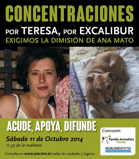 Concentraciones en toda España por Teresa, por Excalibur