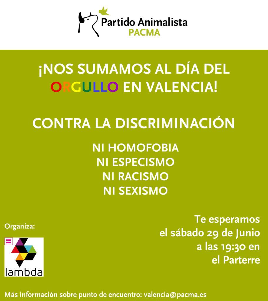 PACMA se suma a la manifestación del Orgullo LGTB en Valencia