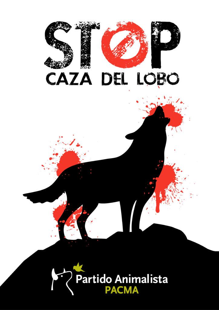 cartel contra caza lobo