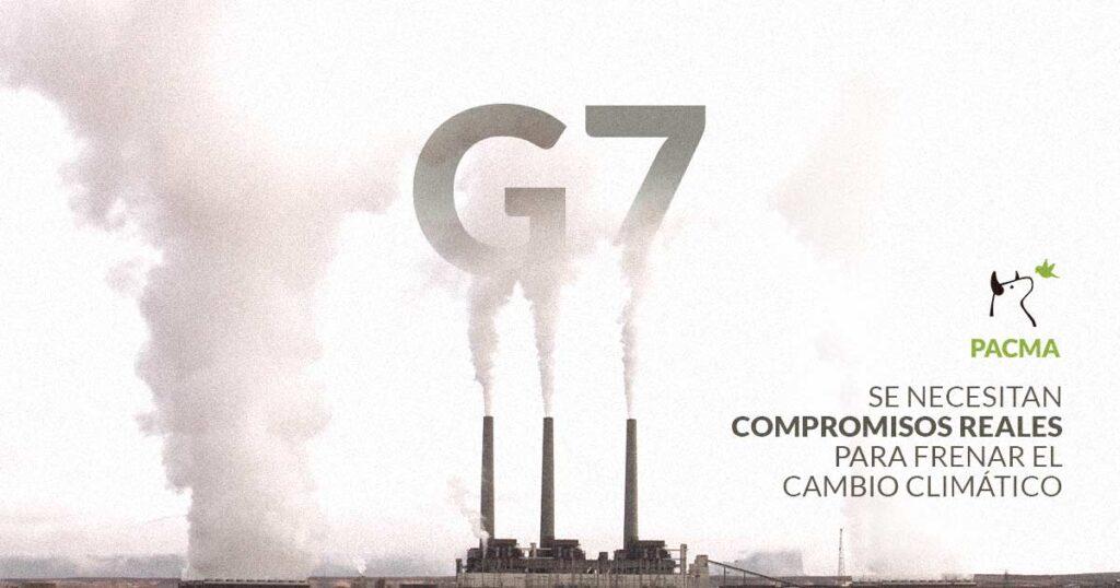 PACMa espera que el G7 se comprometa a luchar de manera real contra los efectos de la contaminación