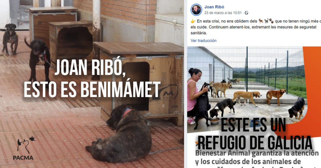 Joan Ribó, alcalde de Valencia, utiliza la foto de un refugio de Galicia para defender su gestión en Valencia