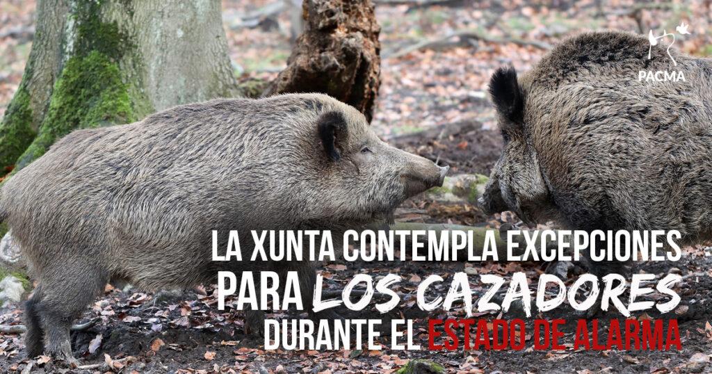 La Xunta de Galicia pretende exceptuar a los cazadores del estado de alarma