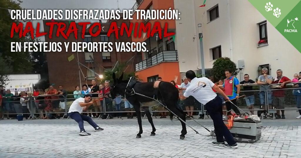Maltrato animal en festejos y deportes vascos